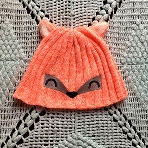 Accessories - • Pink Knitted Fox Beanie •